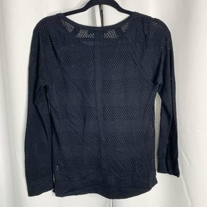 rag & bone Sweaters - Rag & Bone black raglan striped S mesh sweater